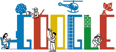صورة جوجل يحتفل بعيد العمال بتغيير شعاره