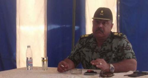 قائد الجيش الثانى الميدانى يصل العريش.