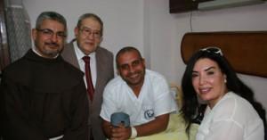 فنانين وإعلاميين فى زيارة لمصابى حادث إغتيال وزير الداخلية