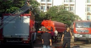 3 وفيات في حريق هائل بمستشفي صيدناوي في الزقازيق