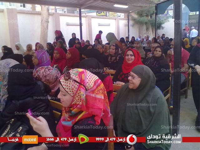 """صورة المرشح """"محمود خميس"""" يعقد مؤتمر إنتخابى للمرأة ببلبيس"""