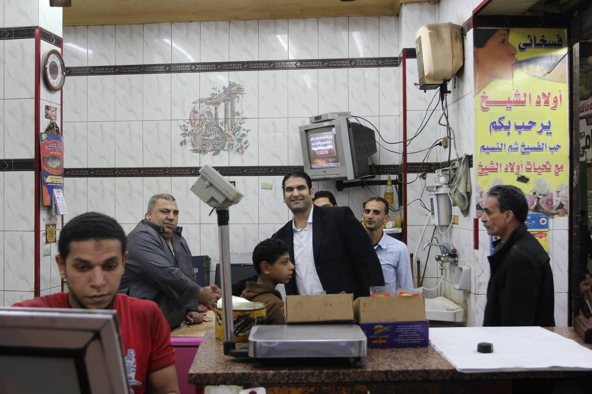 """صورة المرشح """"إسلام مرعى"""" يواصل جولاته بشوارع الدائرة الأولى بالزقازيق"""