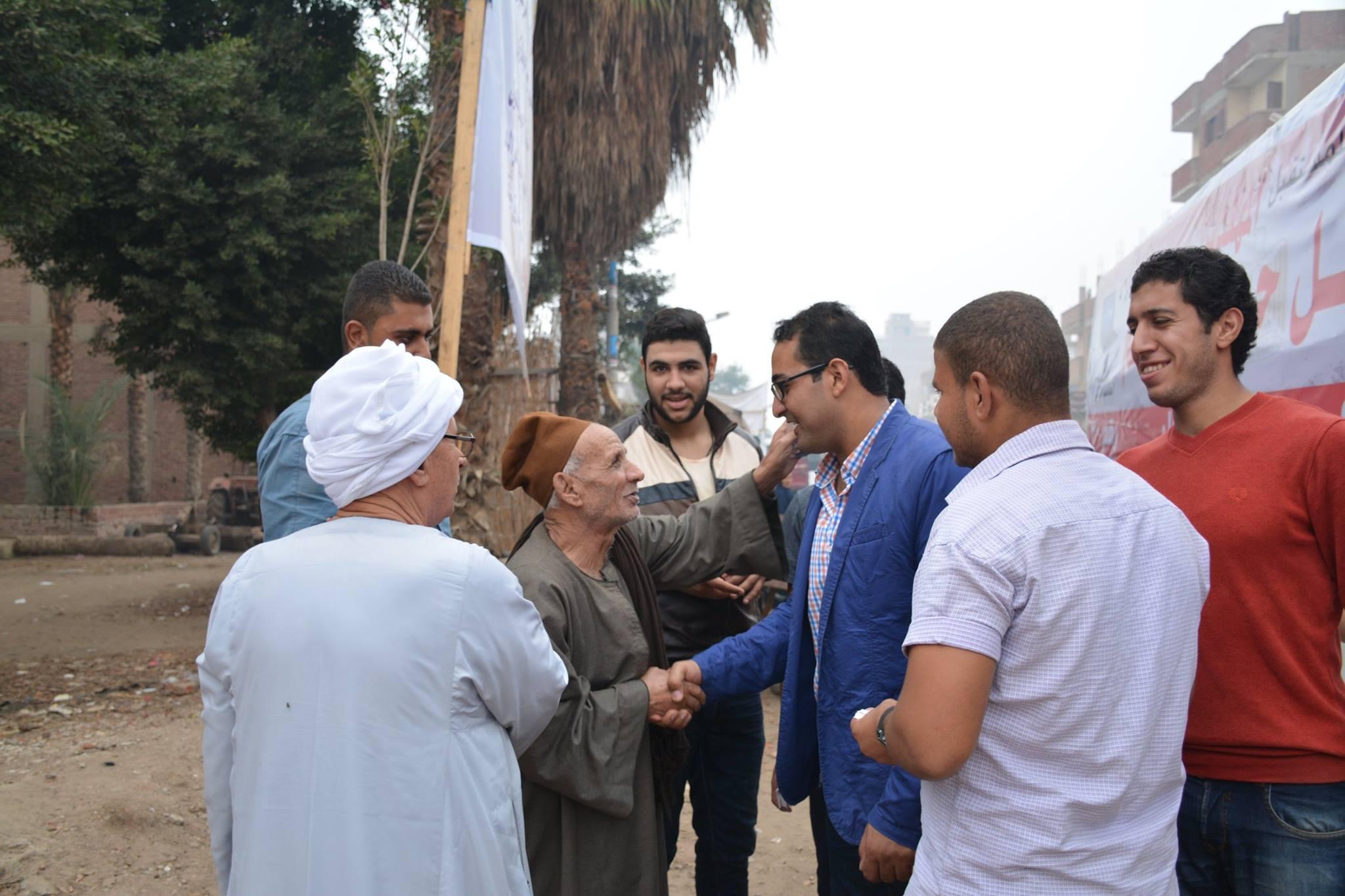 """صورة جولة للمرشح البرلمانى """" نبيل حمدى """" بقرى منيا القمح"""