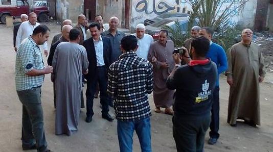 """صورة جولة للمرشح """"محمد الصالحى"""" بقرية العصلوجى بالزقازيق"""