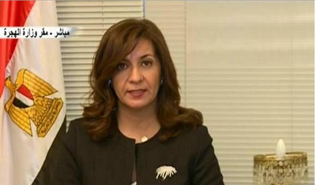 """صورة وزيرة الهجرة عن دهس مصرى بالكويت: """"ما بناخدش عزا إلا بعد عودة الحق"""""""