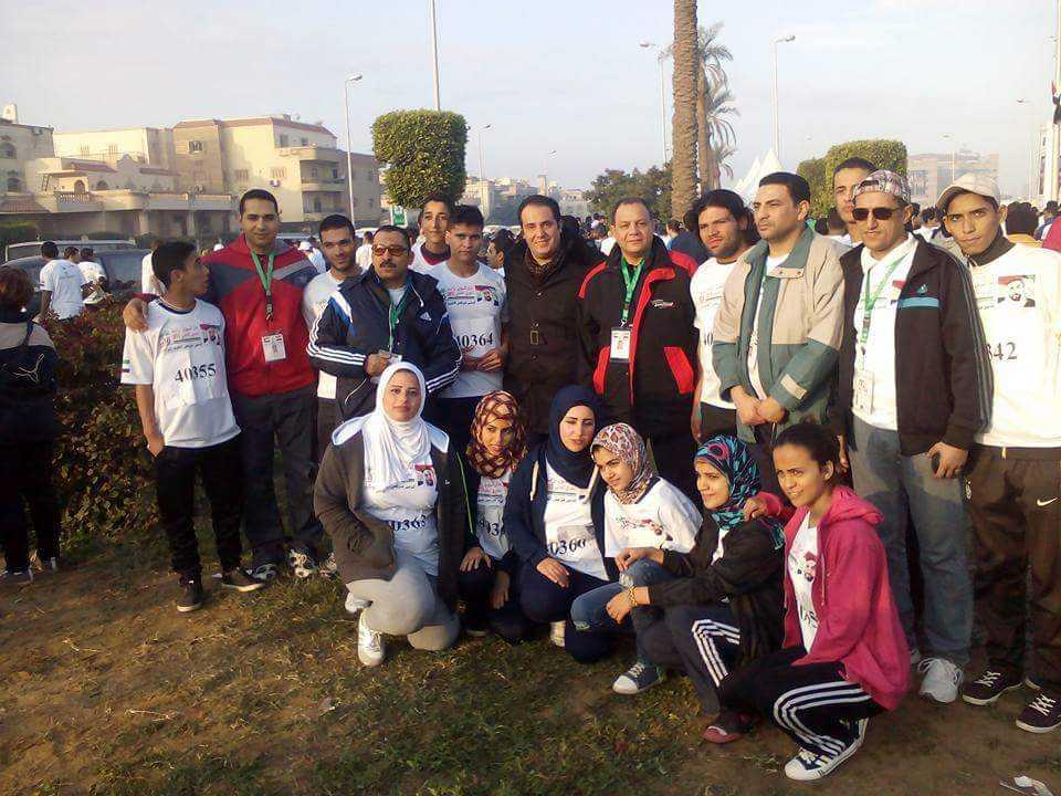 صورة ماراثون زايد الخيرى لدعم مرضى الكبد الوبائى بحضور وزير الرياضة