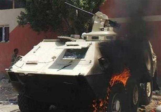 صورة استشهاد مجندين وإصابة 4 إثر استهداف مدرعة أمنية بالشيخ زويد