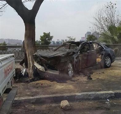صورة مصرع رجل الأعمال محمد الرواس صاحب توكيل «ميتسوبيشى» فى حادث تصادم بكورنيش النيل