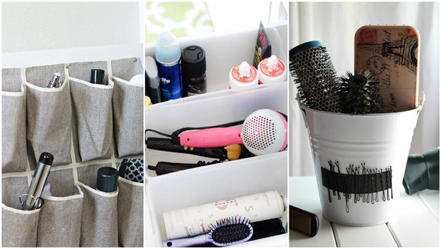 header image Article main Fustany Creative ways to organize your hair products brushes tools