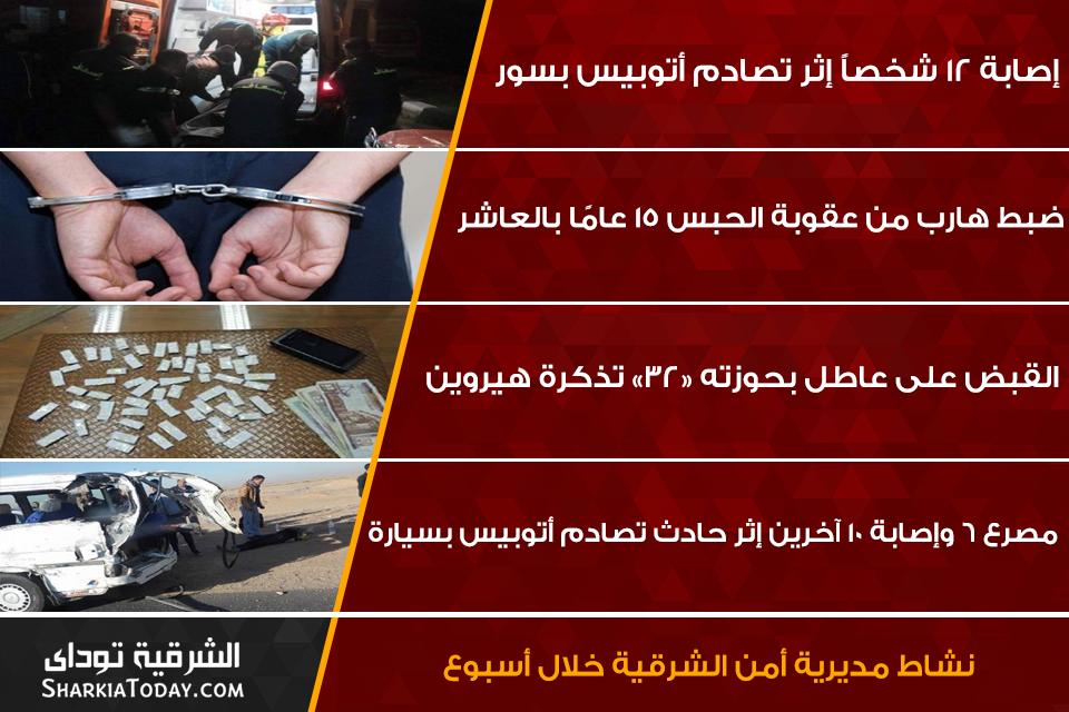 صورة نشاط مديرية أمن الشرقية خلال أسبوع