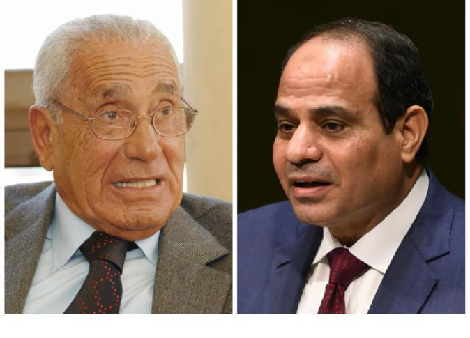 صورة السيسي ينعي هيكل : مصر فقدت اليوم عَلَماً صحفياً قديراً