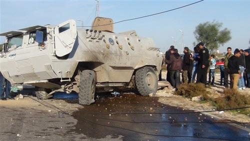 صورة استشهاد ضابط ومجند في انقلاب مدرعة بشمال سيناء
