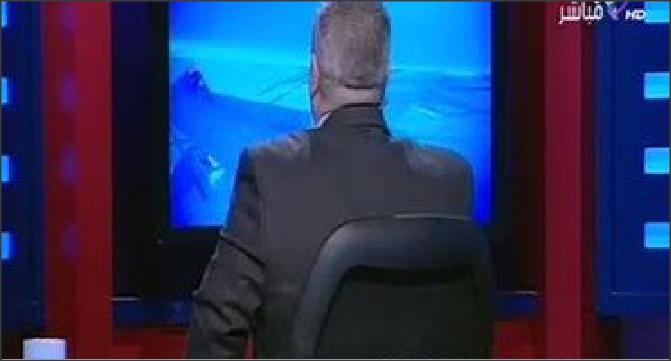 صورة منتقداً طريقة الألتراس .. شوبير يدير وجهه للمشاهدين على الهواء