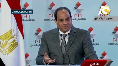 صورة بالفيديو .. السيسي باكيا : أنا لو ينفع اتباع .. هتباع والله