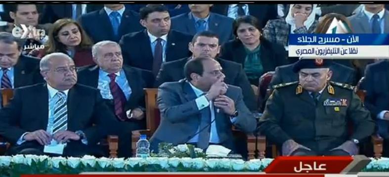 صورة السيسى لـ «المصريين»: بتحبوا مصر صحيح.. اسمعوا كلامى أنا بس