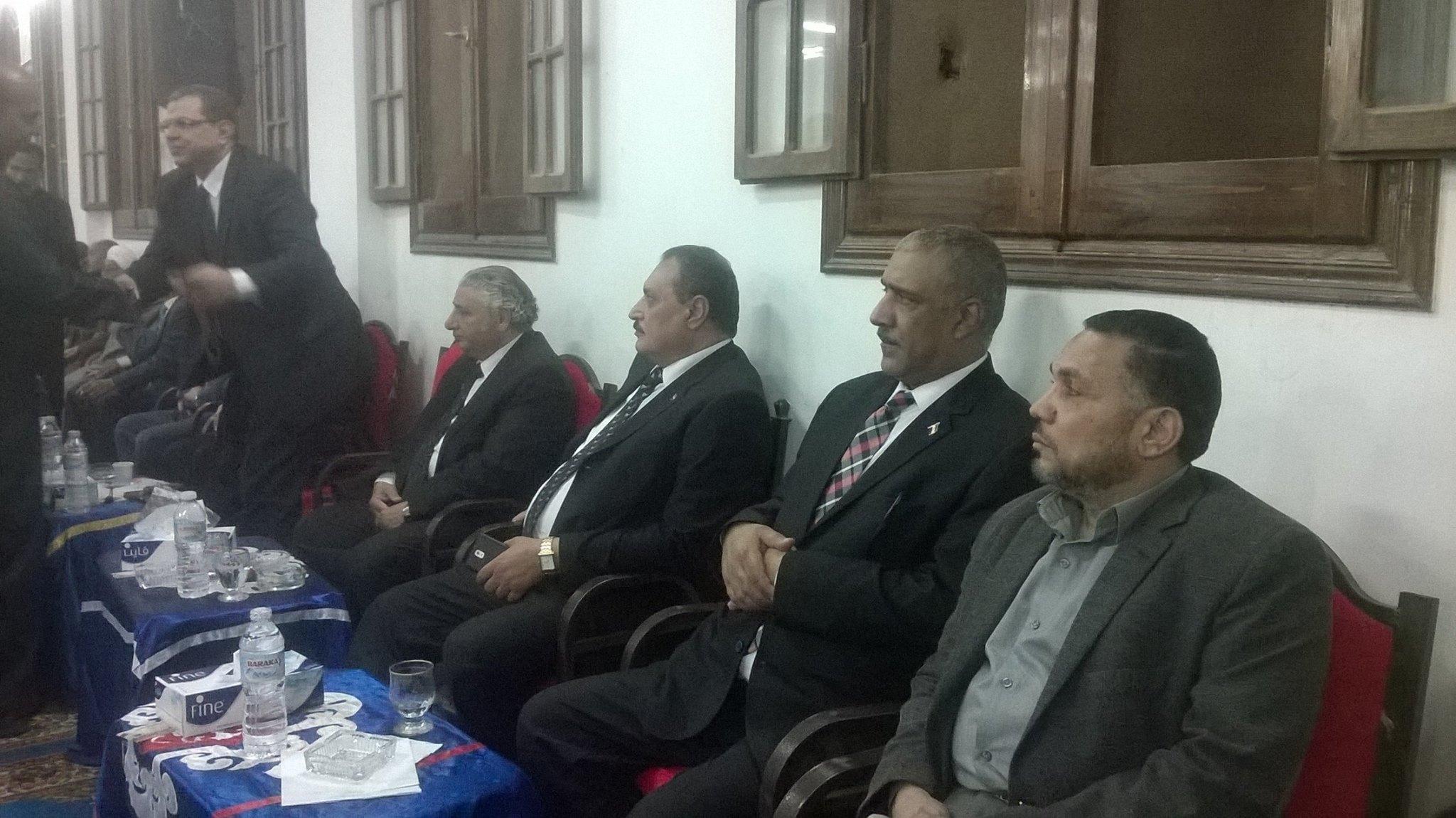 صورة وكيل وزارة القوى العاملة بالشرقية يقدم واجب العزاء في وفاة والد الوزير