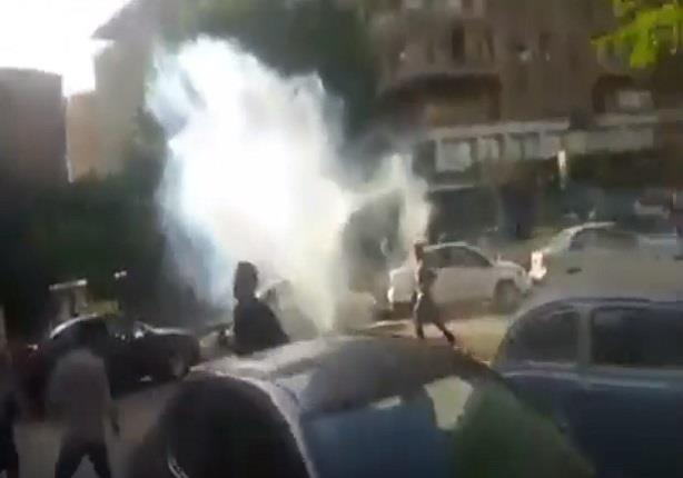 صورة اشتباكات بين قوات الأمن ومتظاهرين بالدقي