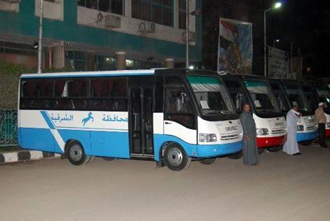 صورة محافظ الشرقية : توفير عدد من سيارات مشروع النقل لخدمة بعض المناطق