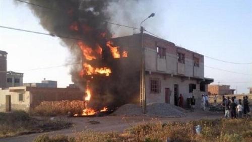 صورة اشتعال النيران بـ12 منزلا.. والحماية المدنية ترفع الطوارئ