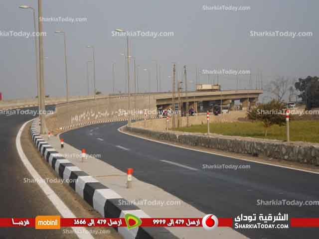 صورة محافظ الشرقية يتفقد طريق كوبري العباسة العلوي بأبو حماد