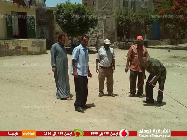 صورة رفع مساحي لمحطة الصرف الصحي بقرية «النوافعة» مركز فاقوس