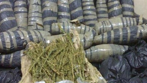 صورة ضبط 7 أطنان «بانجو» بمحيط نفق الشهيد أحمد حمدي
