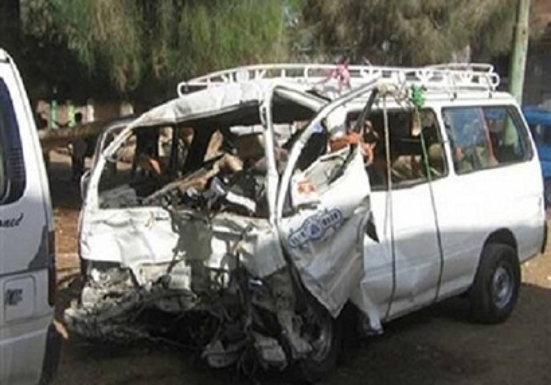صورة إصابة 10 أشخاص فى حادث بالصالحية الجديدة