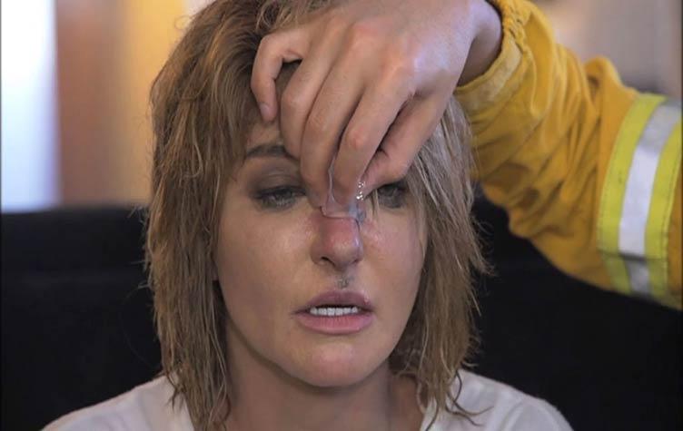 صورة شاهد إصابة علا غانم في «رامز بيلعب بالنار»