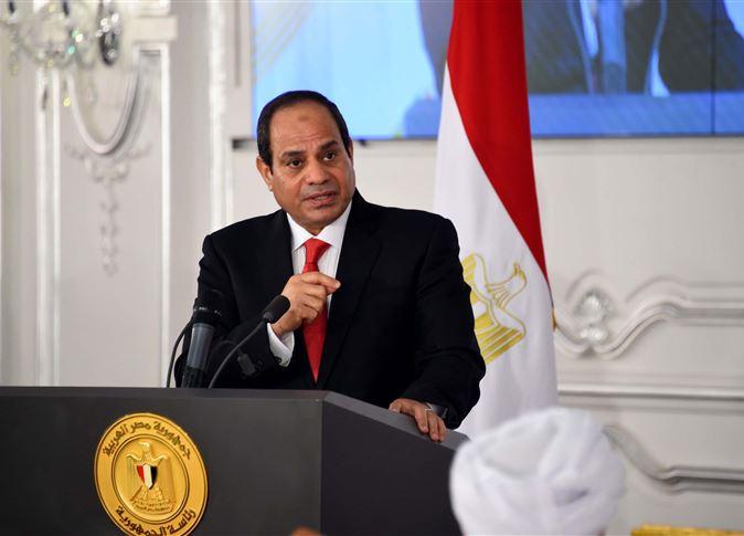 صورة السيسي يؤكد لا توجد قوات برية مصرية في أي دولة عربية