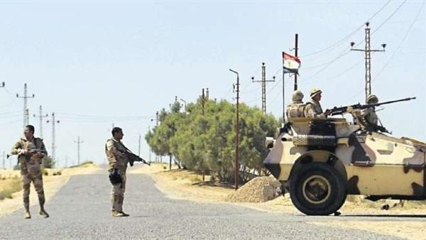 صورة القضاء على مجموعة إرهابية خلال محاولة اقتحام حاجز أمنى بالشيخ زويد