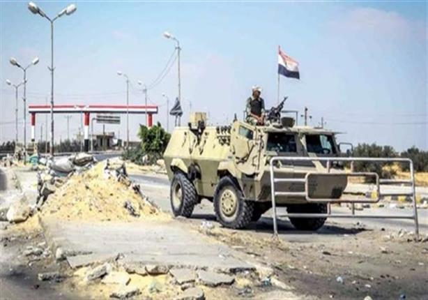 صورة هجوم إرهابي على ثلاثة كمائن عسكرية في الشيخ زويد