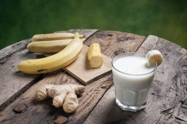 مايفعلة الموز والزنجبيل بدهون البطن