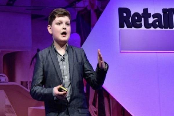 صورة طفل بريطاني يدير مشروعاً تجارياً ناجحاً بعمر 12 عاما
