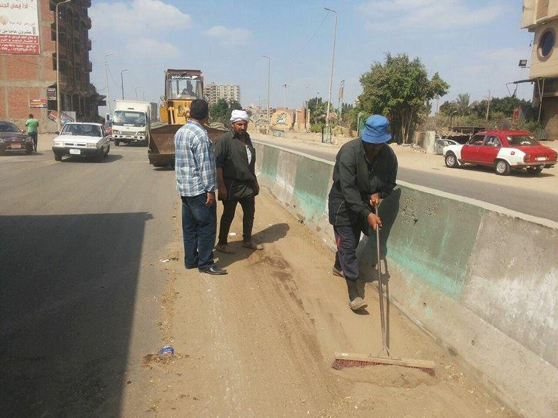 صورة حملة نظافة موسعة بمنطقة الأحرار بالزقازيق