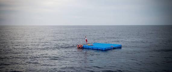 صورة ألف «منصة» في البحر المتوسط يضعها نمساويون لإنقاذ اللاجئين