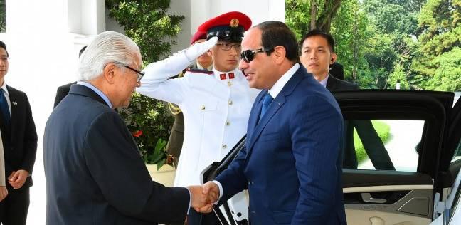 صورة الرئيس السنغافورى: الشراكة مع مصر ثابتة وتعززها المصالح المشتركة