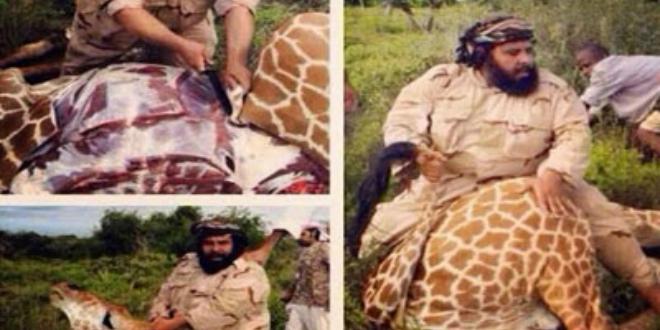 سعودي ذبح زرافة ليأكلها