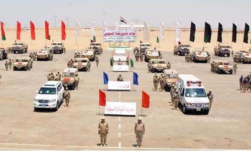 صورة المتحدث العسكري: مقتل 18 تكفيريا وتدمير 4 عربات بشمال سيناء