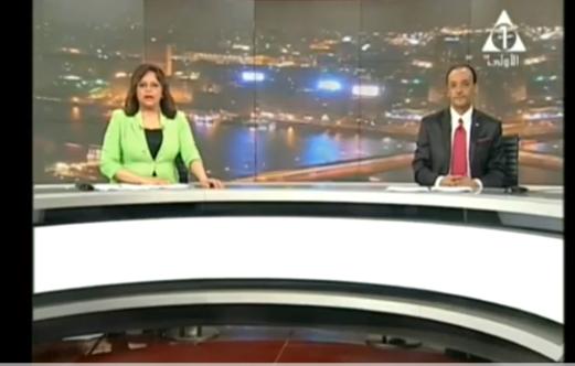 صورة بالفيديو..خطأ فني يحرج مذيعة ماسبيرو خلال نشرة الأخبار