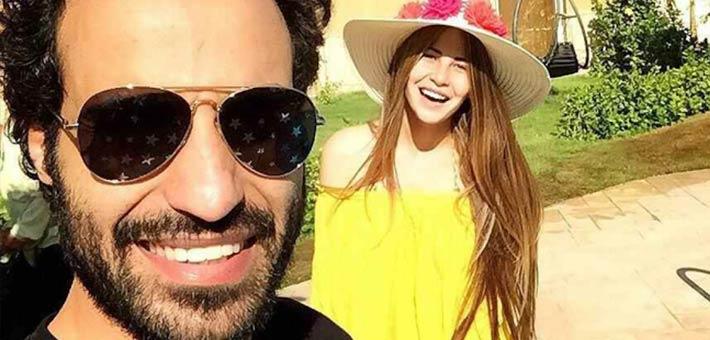 صورة ابنة حسين فهمي تشعل الإنستجرام بصور لها برفقة زوجها