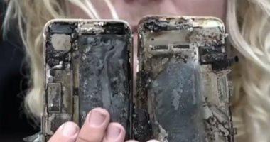 صورة انفجار نسخة من هاتف آيفون 7 بلس فى الصين