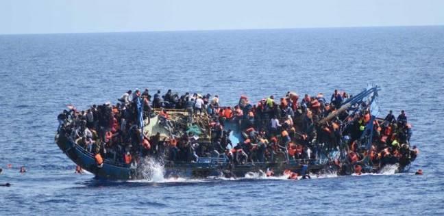 صورة غرق زورق هجرة غير شرعية في البحر المتوسط