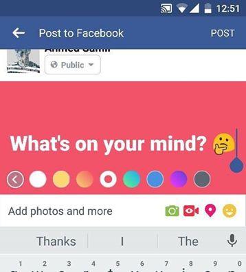 صورة لمستخدمي «الفيسبوك»..لون خلفية بوستك بلون جديد