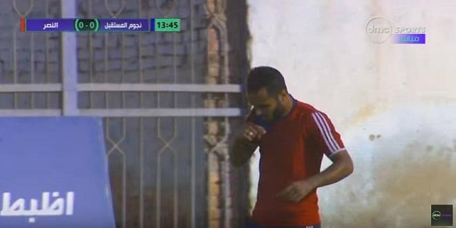 صورة لاعب النصر بعد الصليب والسجدة : مش عايز شهرة