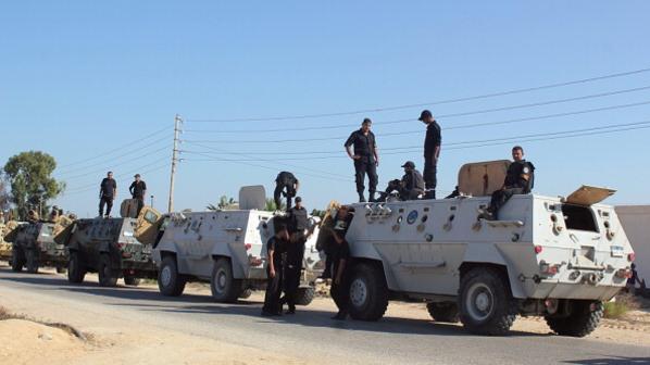 صورة استشهاد مجند وإصابة جنديين في استهداف كمين بجنوب العريش