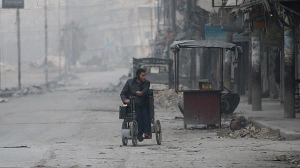 صورة التوصل لوقف إطلاق النار في شرق حلب