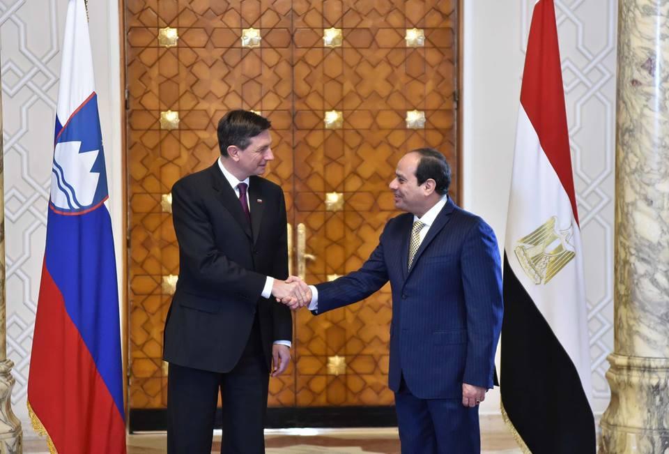 صورة السيسي لرئيس سلوفينيا: ما تحقق من أمن واستقرار بفضل وعى الشعب المصري