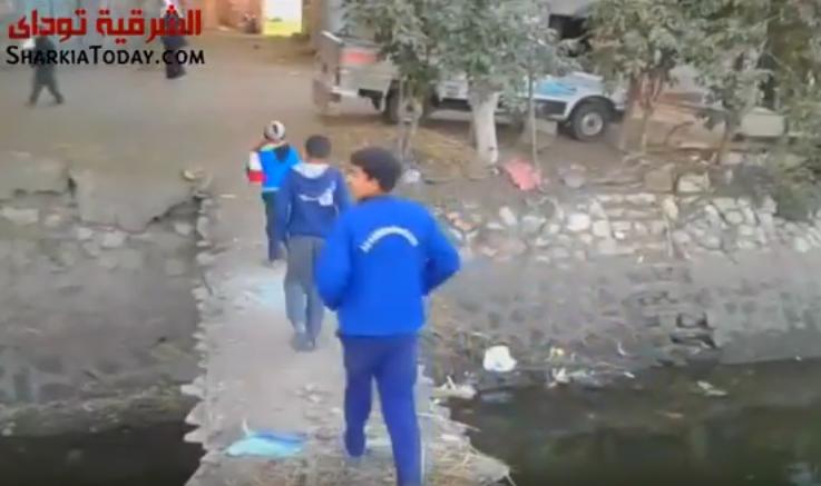صورة بالفيديو.. صرخة أهالي قرية بسطوليا بكفر صقر بسبب الكوبرى