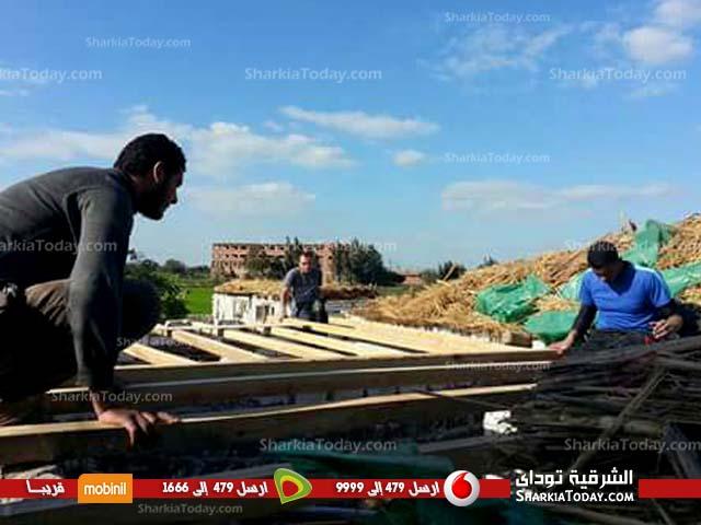 صورة جمعية الغد المشرق بأبوكبير تبني أسقف لمنازل الفقراء