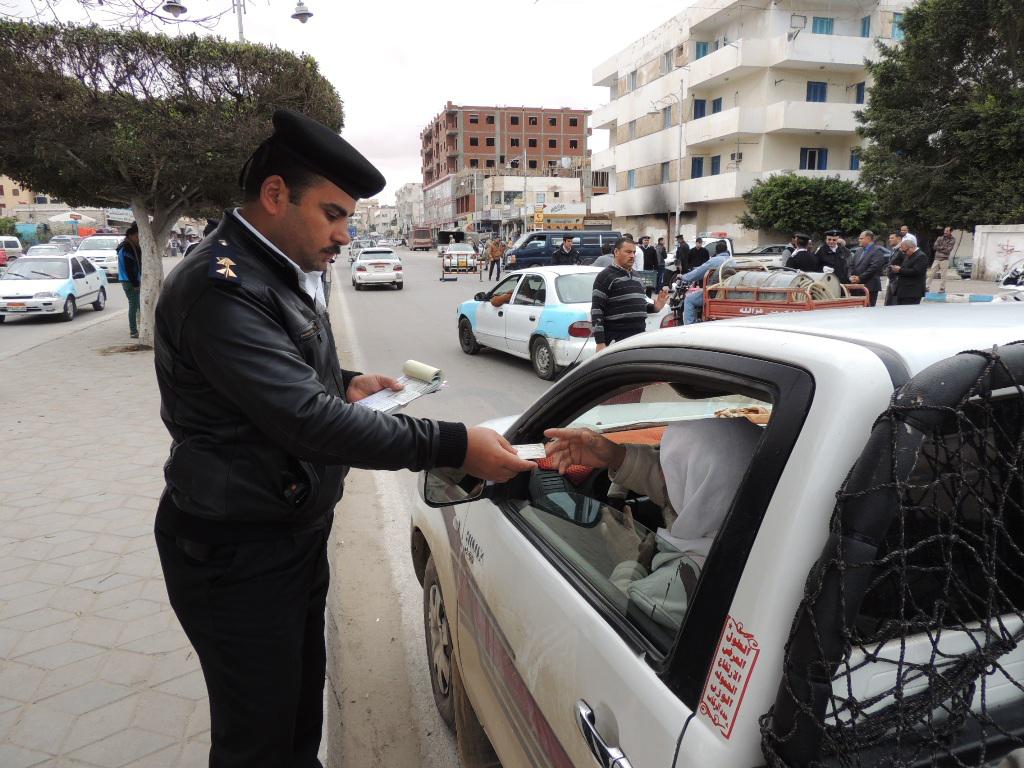 صورة حملات مرورية مكبرة بمراكز الشرقية